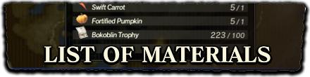 HW - List of Materials