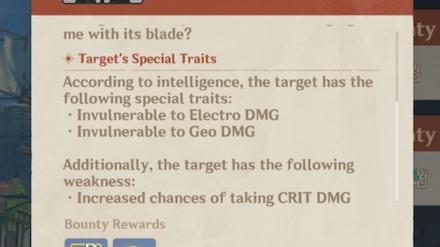 Genshin - Bounty Special Traits