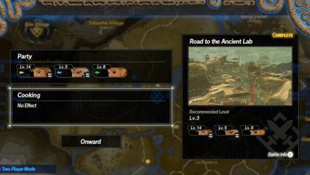 Begin Quest Screen