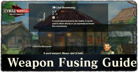 Weapon Fusion Guide How To Transfer Weapon Skills Hyrule Warriors Age Of Calamity Game8