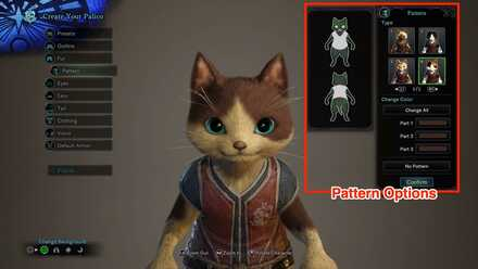 Palico Pattern Customization