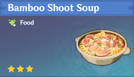 How to Get Bamboo Shoot Soup and Effects