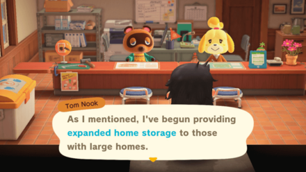 ACNH - Expanded Home Storage Dialogue