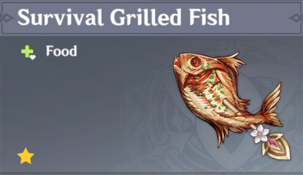 How to Get Survival Grilled Fish and Effects