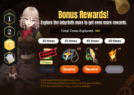 Into the Labyrinth Bonus Rewards