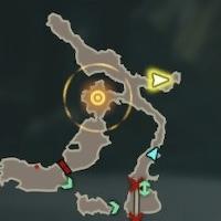 Revali the Rito Warrior Korok Seeds Map
