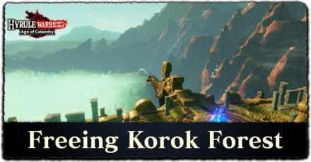 Freeing Korok Forest Walkthrough Korok Seeds Locations And How To Beat Astor Hyrule Warriors Age Of Calamity Game8