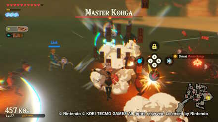 Boss Battle Guide How To Beat Master Kohga Hyrule Warriors Age Of Calamity Game8