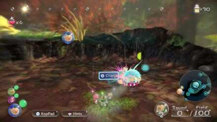 Charge your other pikmin at it when it falls