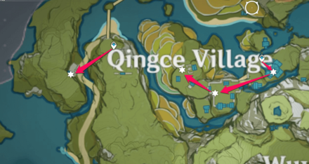 Qingce Village Farming Route.png