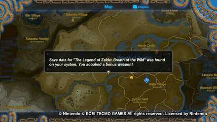 Obtained from Breath of the Wild Save File