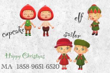 ACNH - Christmas Cupcake Sailor and Elf Costume.jpg