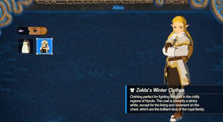 Hyrule Warriors: Age of Calamity - Zelda Attire Screen
