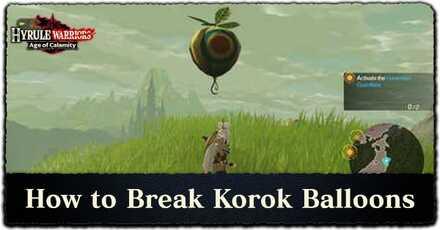 How to Break Korok Balloons