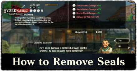 How To Remove Weapon Seals Hyrule Warriors Age Of Calamity Game8