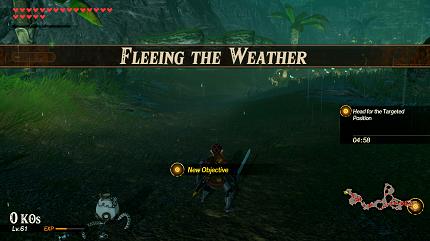 Fleeing the Weather Banner