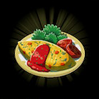 Vegetable Omelet Icon