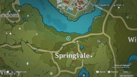 Genshin - Land of Clear Springs  Viewpoint Map