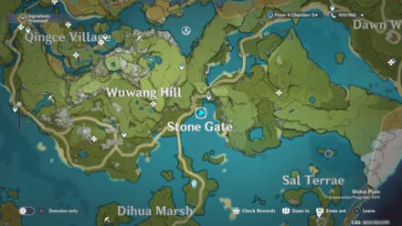 Genshin - Marsh of Rustling Reeds  Viewpoint Map