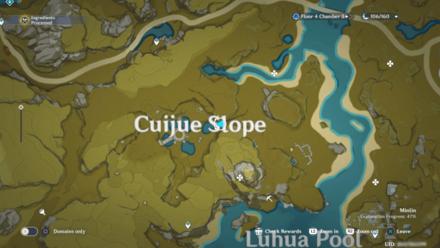 Genshin - Nine Pillars of Peace Viewpoint Map
