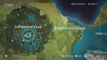 Genshin - Abandoned Capital of Howling Winds Viewpoint Map