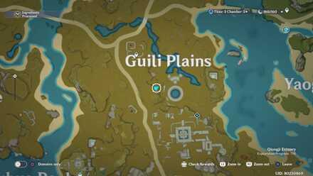 Genshin - Ruins of Guili  Viewpoint Map
