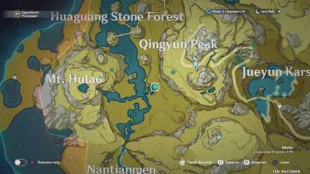 Genshin - Moonlit Tree  Viewpoint Map
