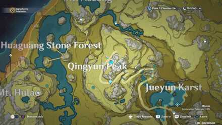 Genshin - Mist-Veiled Stone Forest  Viewpoint Map