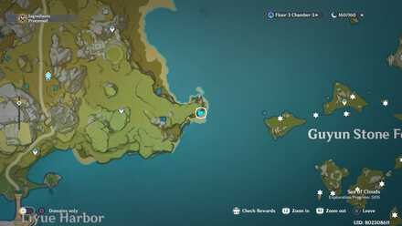 Genshin - A Drop in the Ocean  Viewpoint Map