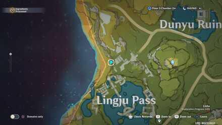 Genshin - Dunyu Ruins  Viewpoint Map