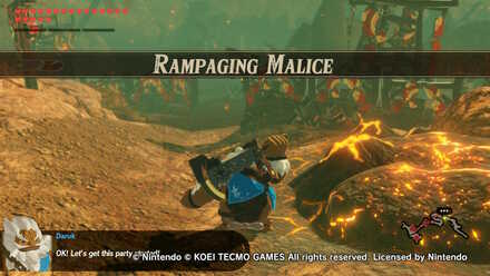 Rampaging Malice Challenge Walkthrough Hyrule Warriors Age Of Calamity Game8