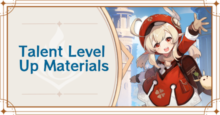 Genshin Impact -Talent Level Up Materials Banner