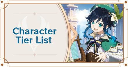 Genshin - Character Tier List