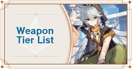 Genshin - Impact Weapon Tier List Banner