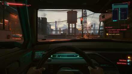 Cyberpunk 2077 - Driving First Person