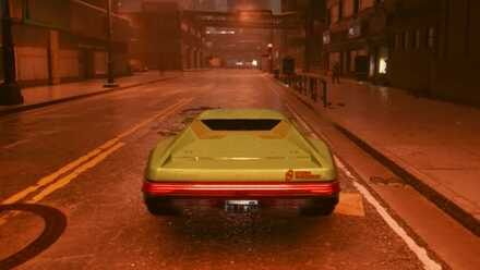 Cyberpunk 2077 - Driving Third Person