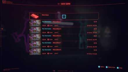 Cyberpunk 2077 - Multiple Saves