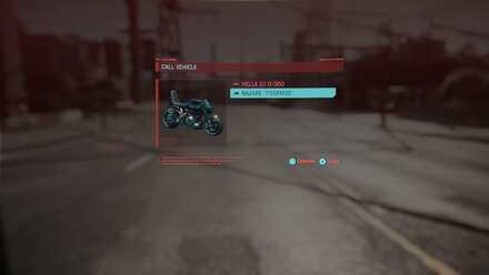 Cyberpunk 2077 - Summon Vehicle