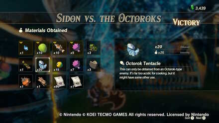 Sidon vs the Octoroks Rewards.jpg