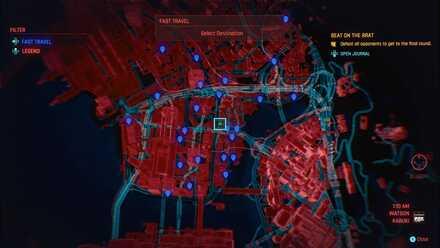 Cyberpunk 2077 - Fast Travel Map