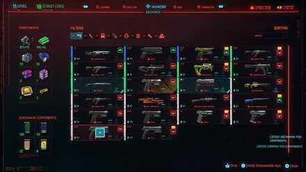 Cyberpunk 2077 - Dismantle Items