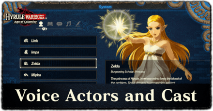 English And Japanese Voice Actors And Cast Hyrule Warriors Age Of Calamity Game8