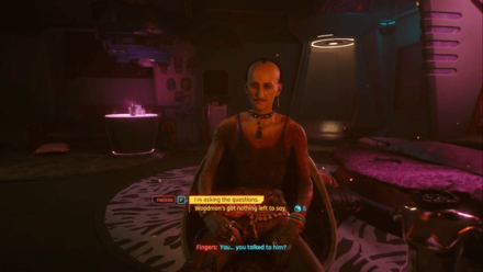 Cyberpunk 2077 - Interrogate Fingers