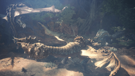 rathalos diablos zinogre fight.png