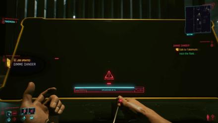 Cyberpunk 2077 - Hack the float