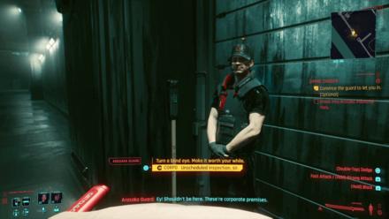 Cyberpunk 2077 - Convince guard