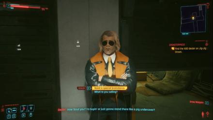 Cyberpunk 2077 - Buy an illegal braindance