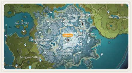 Genshin - Dragonspine Map