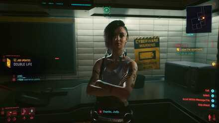 Cyberpunk 2077 - Talk to Judy and leave apartment