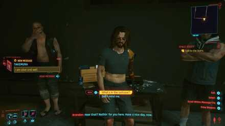 Cyberpunk 2077 - Talk to the bums
